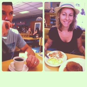 We love to eat breakfast out on vaca!
