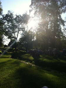 A beautiful night to sit outside and listen to some music.