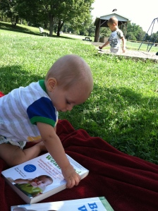 Oliver loves baby-led weaning so much he even wants to read about it!