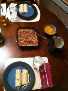 breakfast burritos and baked oatmeal