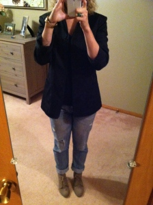 Big, boyfriend blazer (this one I've kept since 9th grade, just cause I love it that much.)