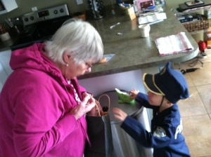 "Next stop, a visit with ""yoo-hoo"" aka, great grandma"