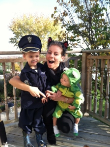An officer, a kitty and a frog. Sounds like the title to a kids book!