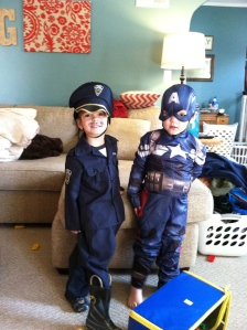 The news have you down? Never fear, Officer Shipper and his partner Captain America are here to save the day!