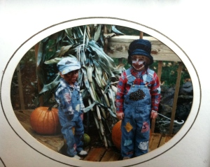 What were we mom? Hobos? Scarecrows?