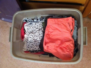 ...and putting summer clothes away.