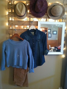 Chambray. Crop Sweater. Corduroy.