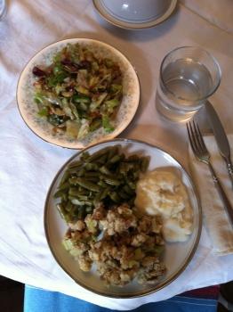 A vegetarian feast.