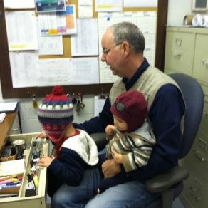 Raiding Pop-Pop's office.