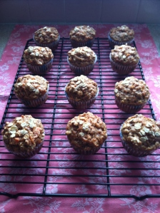 carrot-coconut muffins