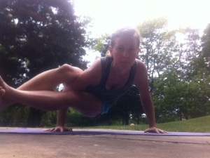 yoga outside. Gardening, Yoga and Other Things I Love (A Week in Review)