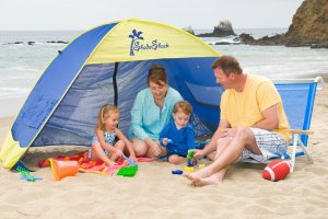 beach tent.Shade Shack Instant Pop Up Family Beach Tent and Sun Shelter