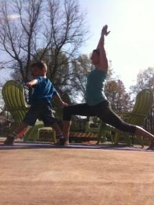 warrior one. my pregnancy workout routine