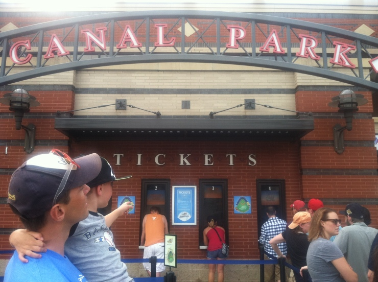 at Canal Park in Akron. take me out to the ball game