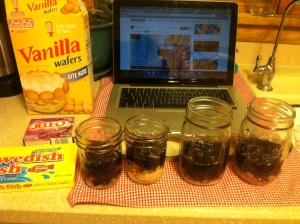 ingredients for jello aquariums. blogger bites