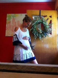 peasant dress. Clothing Capsule: Pregnancy Edition