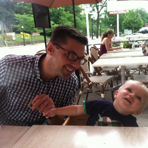 daddy and oliver. Happy Father's Day, to the Coolest dads I know!