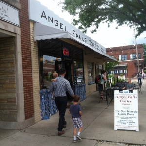 akron ohio. getting coffee. Happy Father's Day, to the Coolest dads I know!