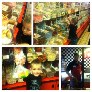 Theo in the candy shop. My Guidebook to Tybee Island and Savannah, Georgia