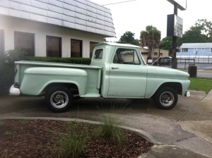 The actual green truck!