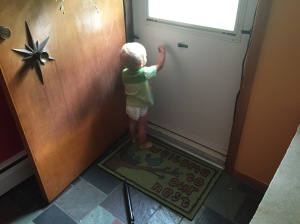 Oliver disassembling our front door. Just a typical day folks...