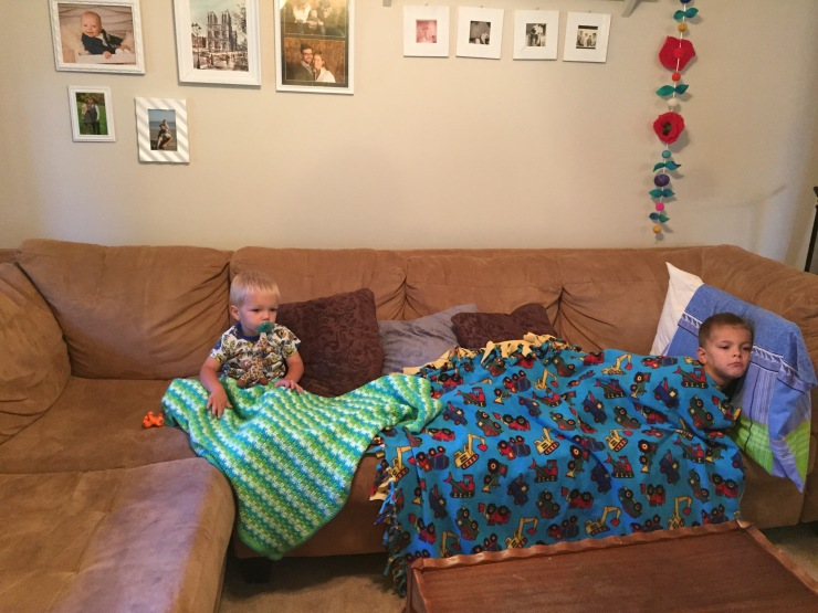 Rough days call for pjs, blankets, and Curious George!