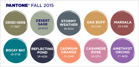 fall 2015 fashion colors