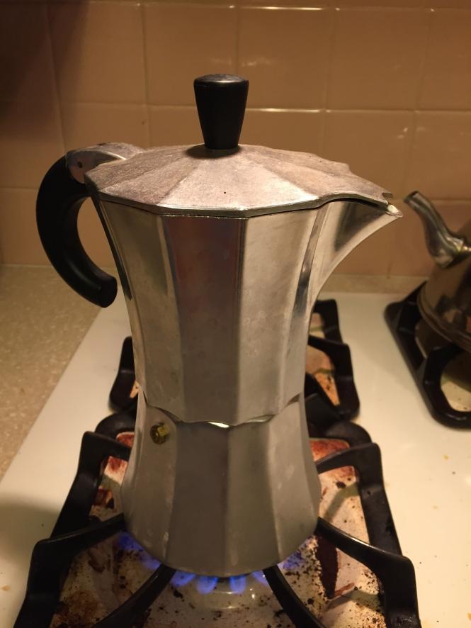 Our stovetop espresso maker works like a percolator.
