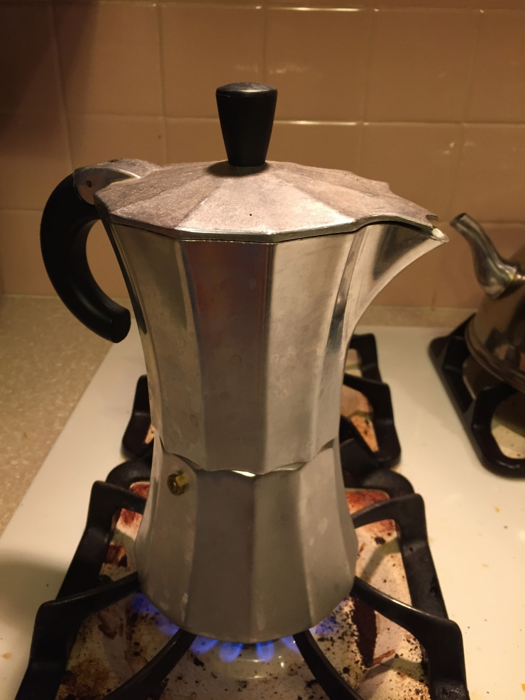 Our stovetop espresso maker works like a percolator.