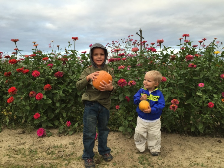 Picking Pumpkins - Our First Fall Family Activity
