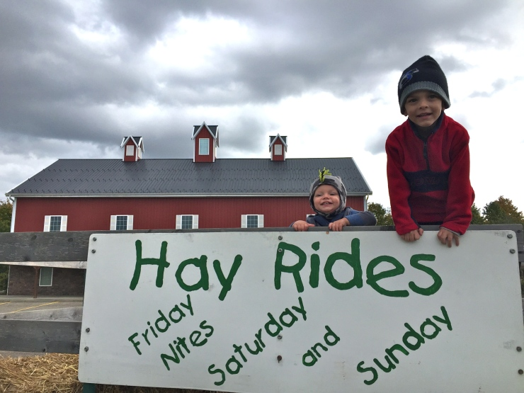 An afternoon hay ride to kick off the birthday celebration!
