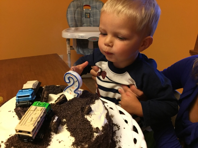 The birthday boy, being birthday adorable.