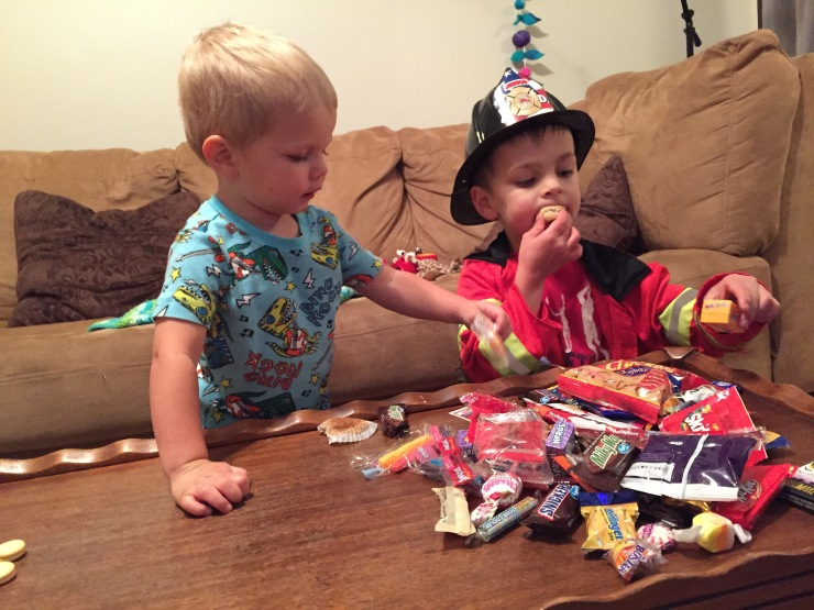 Things I Love Right Now: Fall Picnics, Halloween Candy, and Little Boys With Trucks