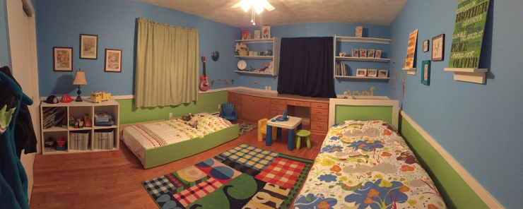 A Room Tour: How We Set Up Our Boys' Bedroom to Room Share