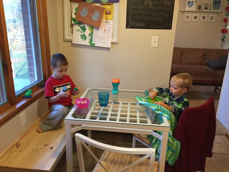 This nook. Making all my family-breakfast dreams come true.